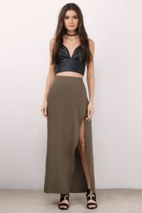 Shop the Tobi Fearless Olive Maxi Skirt