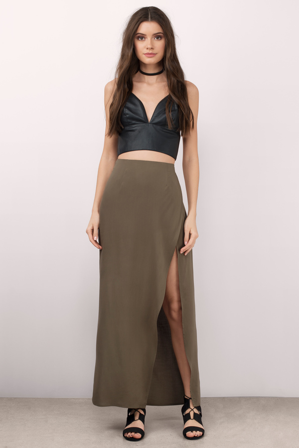 tobi-olive-fearless-high-slit-maxi-skirt