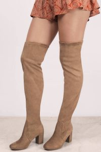 Shop Tobi Chinese Laundry Kiara Suedette Camel Heeled Booties