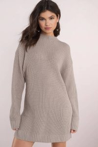 tobi.com - just for comfort taupe sweater dress
