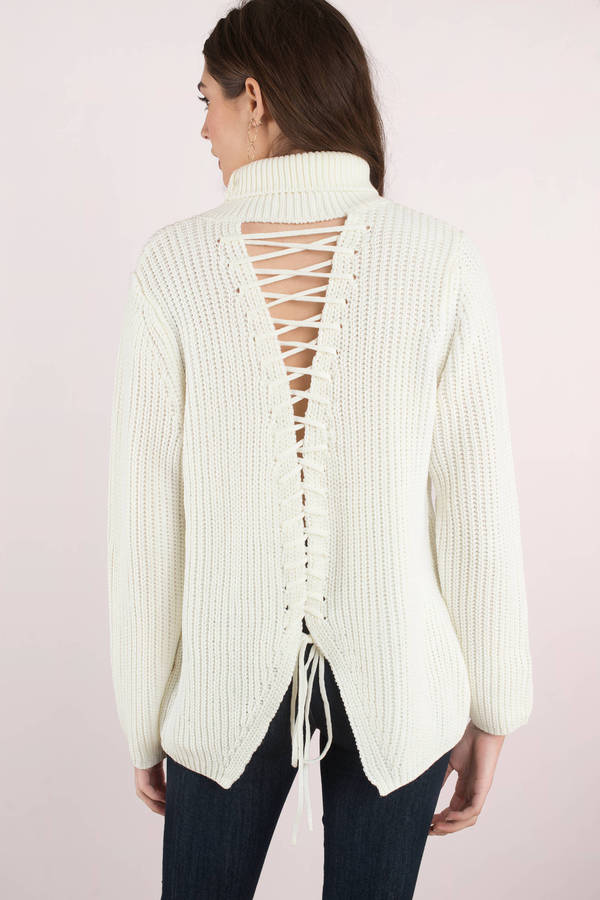 white-turn-around-cutout-turtleneck-sweater