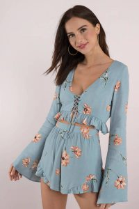 Shop the PAIGE BLUE MULTI LONG SLEEVE CROP TOP at tobi.com!