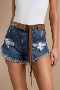 tobi.com - adventure awaits fringe studded belt