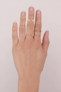 tobi.com - into your heart gold ring set