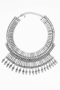 tobi.com - straight shot silver statement necklace