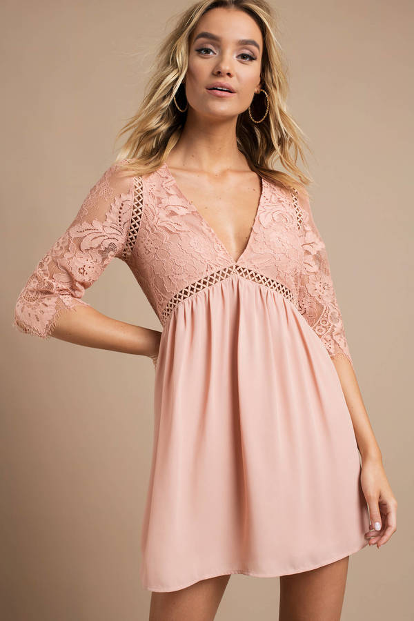 blush-niall-plunging-shift-dress