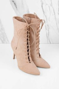 MILIA CAMEL LACE UP BOOTIES at tobi.com!
