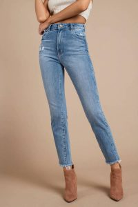 ROLLA'S DUSTER MEDIUM WASH HIGH WAISTED CROPPED DENIM PANTS at tobi.com!