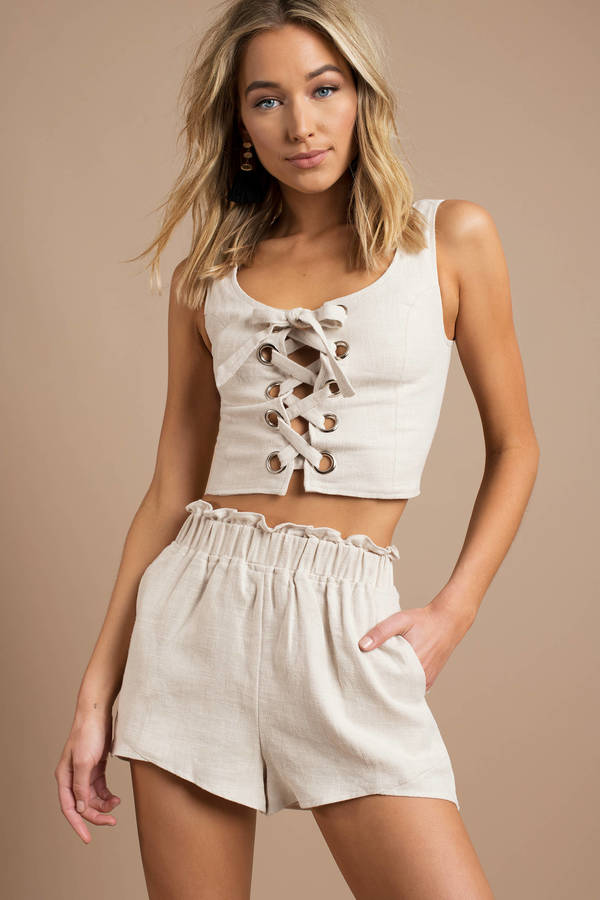 beige-stephanie-grommet-lace-up-crop-top