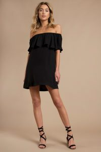 DON'T BE SHY BLACK SHIFT DRESS at tobi.com!