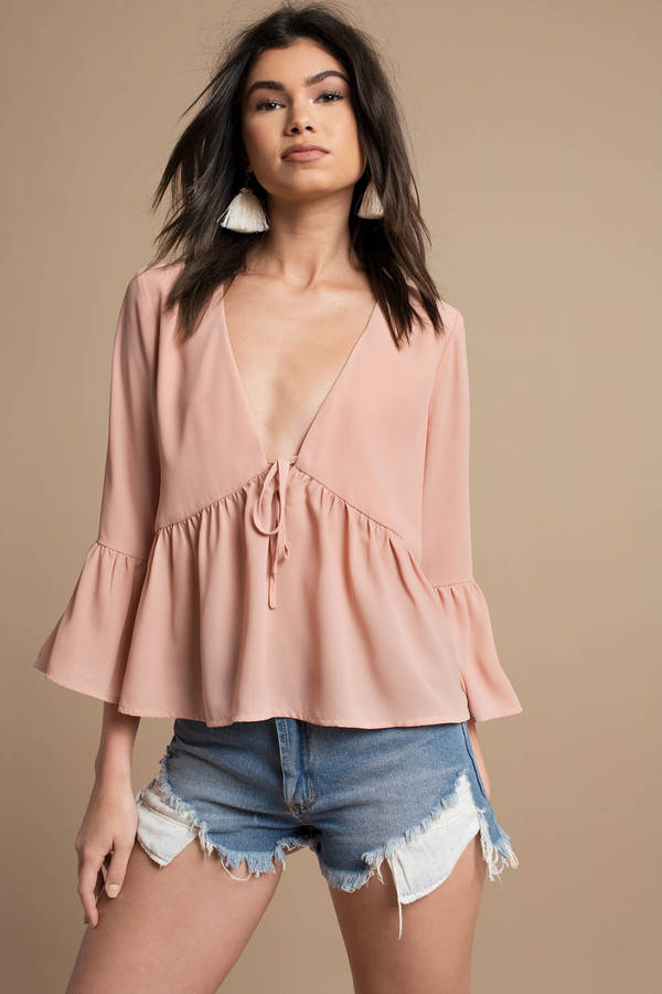 tobi-blush-ivana-plunging-blouse