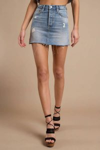 BOYISH JEANS THE COREY MEDIUM WASH DENIM SKIRT at tobi.com!