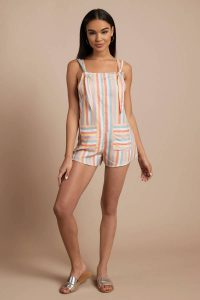 BEACH RIOT SKYE MULTI RAINBOW ROMPER at tobi.com!