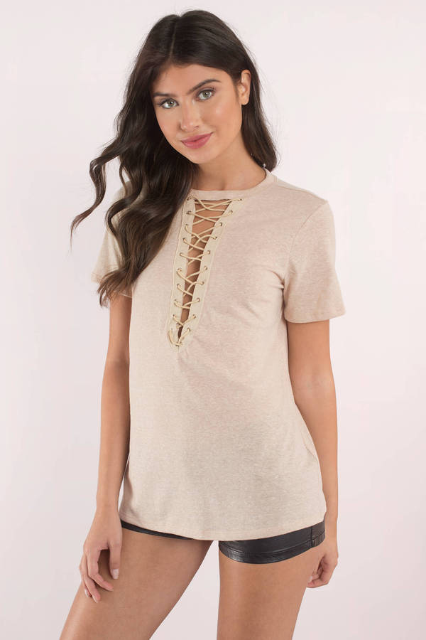 taupe-this-is-what-you-came-for-lace-up-tee