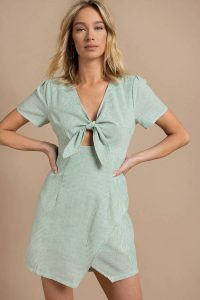CUTIE PIE GREEN SHIFT DRESS at tobi.com!