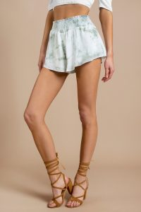 HARLOW MINT TIE DYE SHORTS at tobi.com!