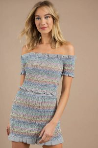 FIGHT THE FEELING MULTI SMOCKED CROP TOP at tobi.com!