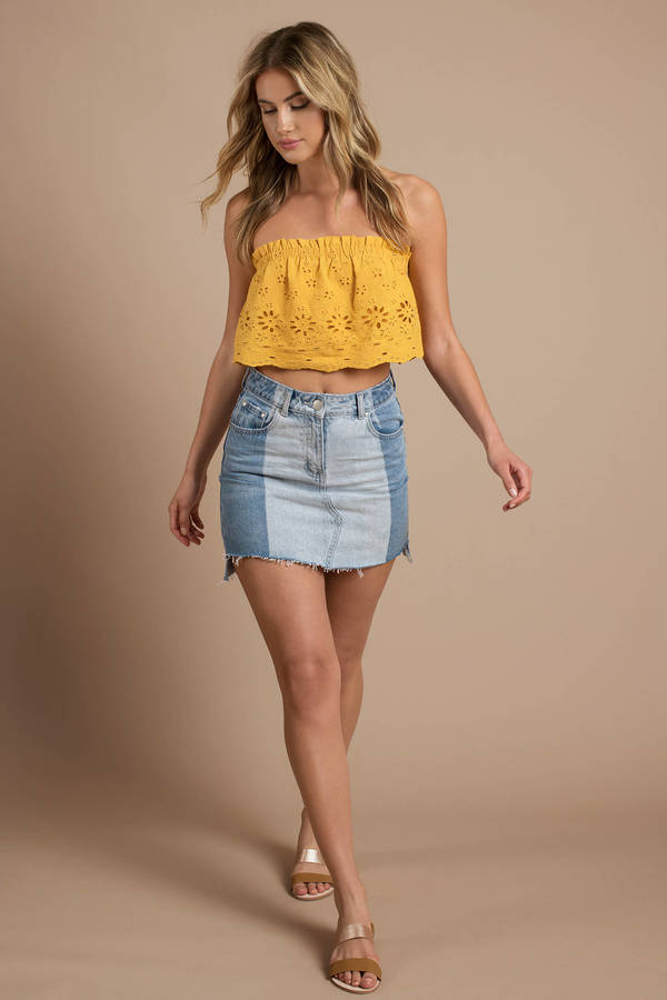 yellow-darling-off-shoulder-crop-top