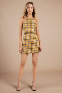 tobi.com - fun times ahead plaid halter top