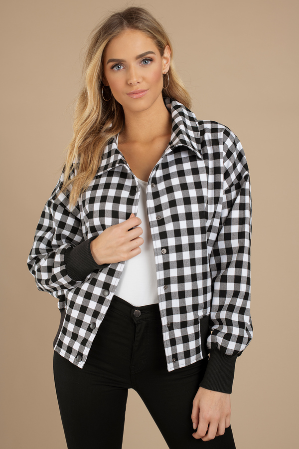black-white-idyllic-checkered-print-bomber