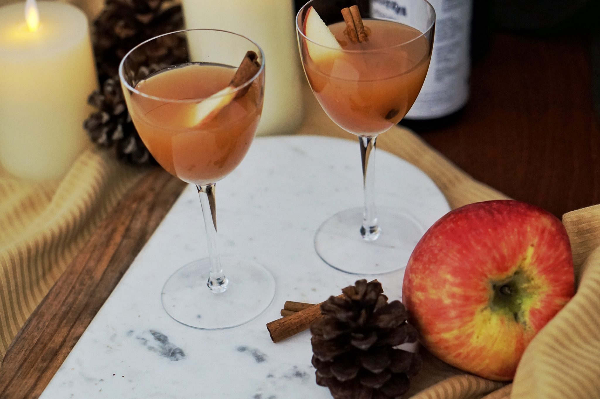 fall cocktail recipe spiced apple bourbon cocktail
