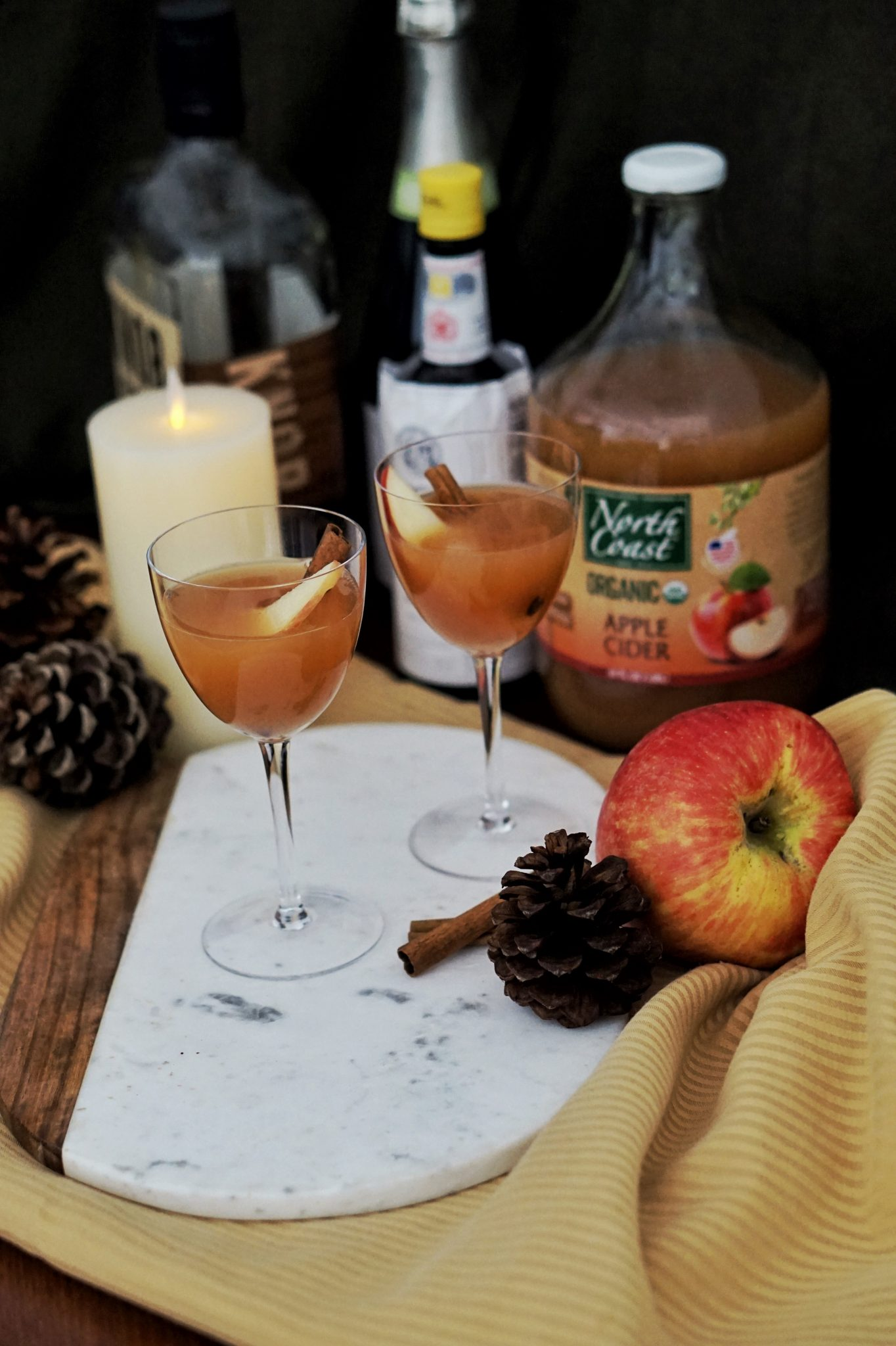 fall cocktail recipe spiced apple cider bourbon cocktail recipe